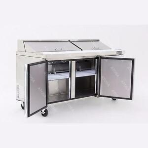 Salad Prep Table 6 feet Stainless Steel Body 32.8 Cubic Ft Factory Prices Come and See!
