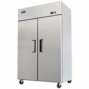 Double Door Cooler Stainless Steel 2 Doors Factory Prices Come and See! 44.5 Cubic ft
