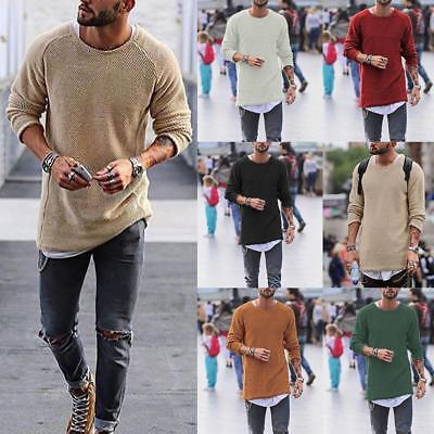 Warm Men's Fashion Long Sleeve Jumpers Casual Knit Sweater Slim Fit Cardigans
