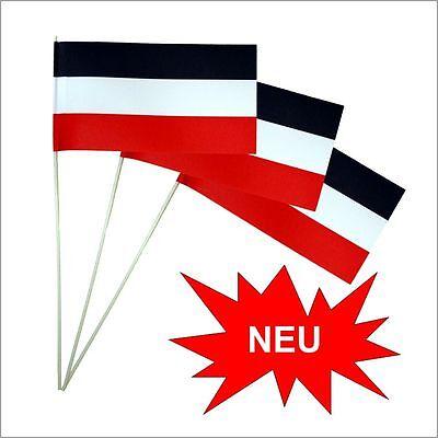 Papierfähnchen/Papierfahnen schwarz-weiß-rot (Flaggen) --- PFW-SZWSRT