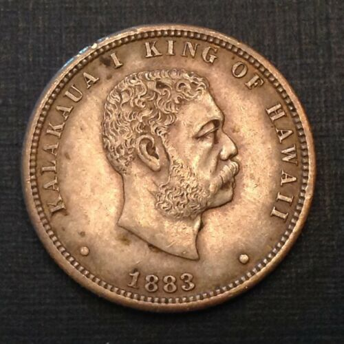 - 1883 Kingdom of Hawaii Quarter Dollar  Kalakaua I - Sale Priced