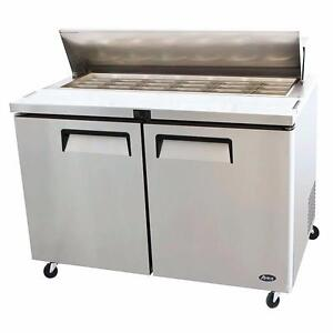 "Salad Prep Table 60"" Stainless Steel Body Factory Prices Come and See!"
