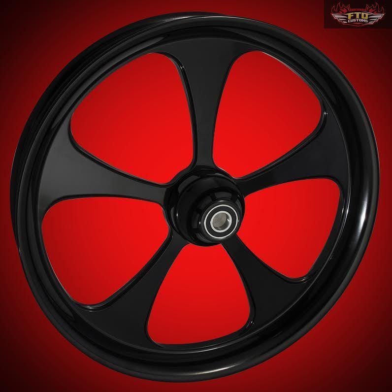 "Harley Davidson Road Glide 30"" Inch Custom Front Wheel ""5 Blade X2"" Blackout"