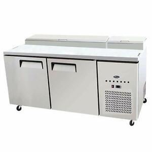 Pizza prep Table 67 inches Length Stainless Steel Body Factory Prices Come and see!