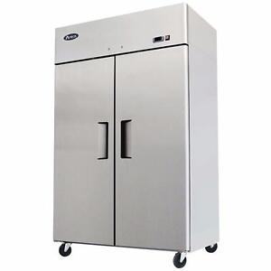 Double Door Freezer Stainless Steel 2 Doors 44.5 Cubic Ft Factory Prices Come and See!