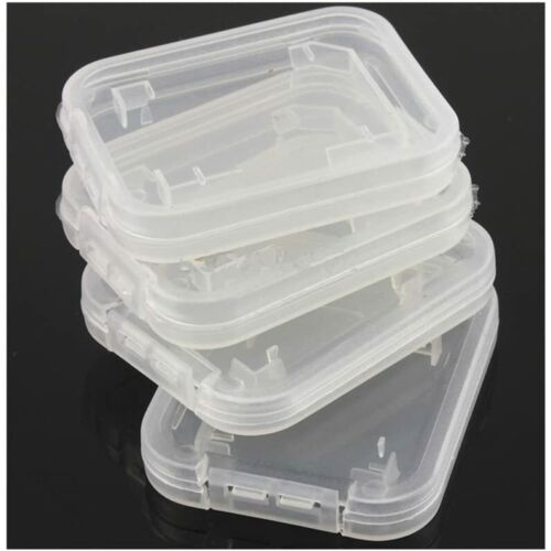 Memory Cards Transparent Standard SD SDHC Case Holder Box Storage Boxes (pack Of