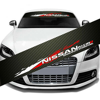 NISMO Front Window Windshield Carbon Fiber Vinyl Banner Decal Sticker for Nissan