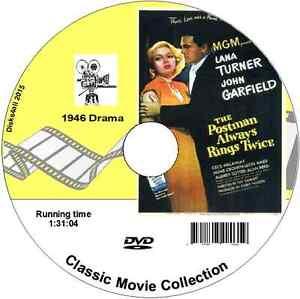 The Postman Always Rings Twice - Lana Turner DVD Region Free 1946 Film