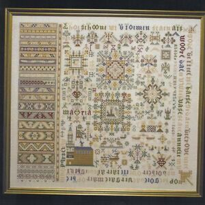 CROSS STITCH PERMIN MUSEUM SAMPLER 1663 CHART