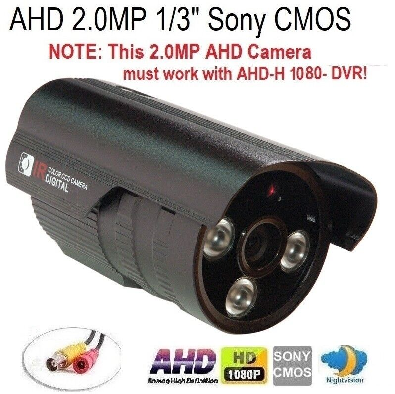"AHD 2.0MP 1//3/"" 1080P Waterproof IR-CUT outdoor Camera 3IRx2.0mm 2MP 3.6mm Lens"