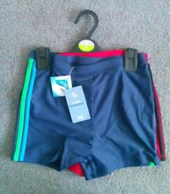 Brand New Two Pack of Boys Swimming Trunks size 12 years.
