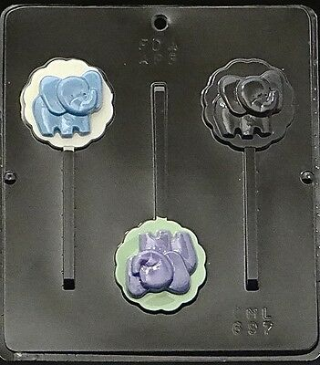 Baby Elephant Lollipop Chocolate Candy Mold Baby Shower 697 NEW (Baby Candy Molds)