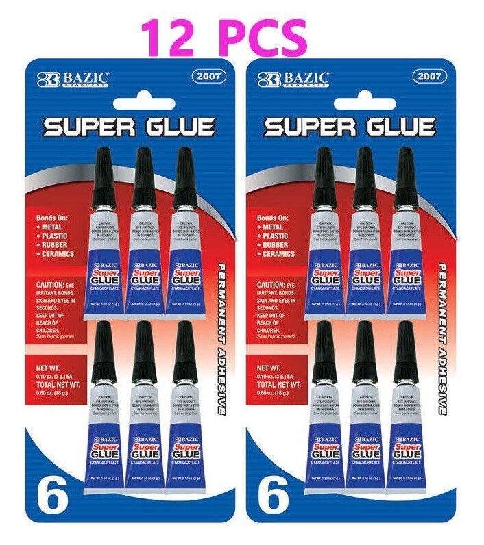 12 pcs super glue for bonds on