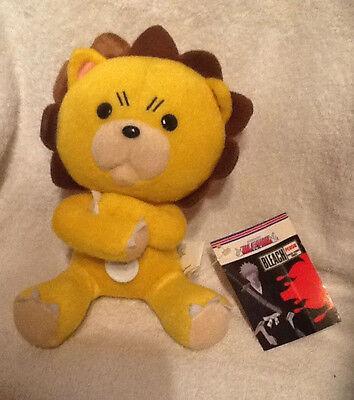 "NWT Bleach 7"" Kon Lion Plush Stuffed Toy Shonen Jump Anime Arms Crossed"