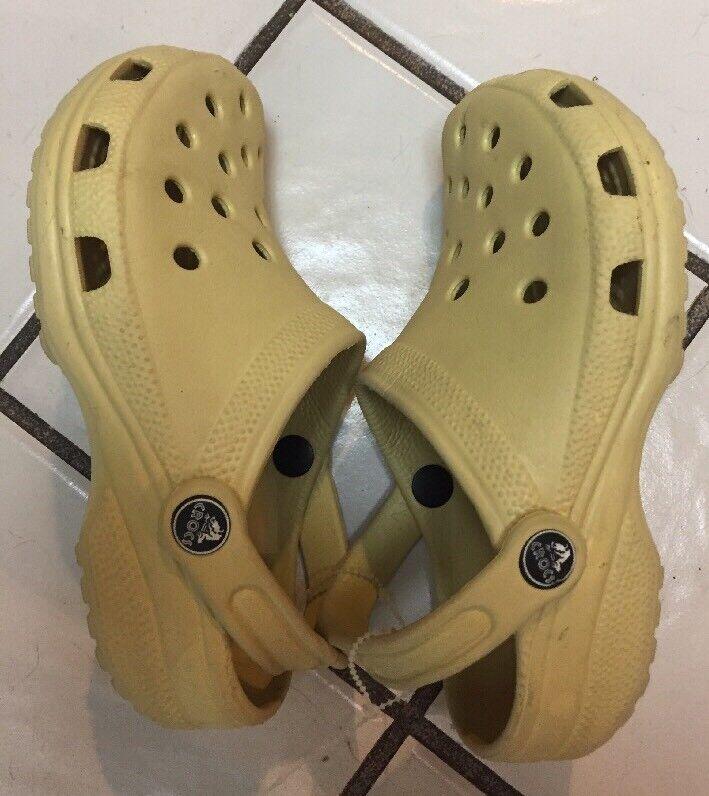 CROCS CAYMAN Slingback Style Classic Yellow CLOGS~Mens 2 Women's 4