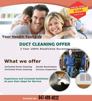 Duct Cleaning $100