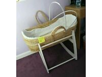 Moses basket & white rocker