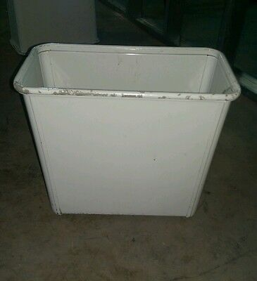 Reclaimed Vintage Steelcase Industrial Metal Waste Can. As Found