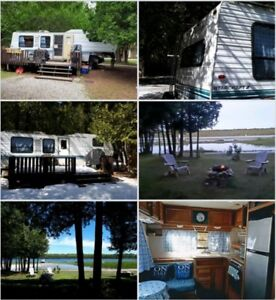 26 ft 5th Wheel for sale on waterfront lot