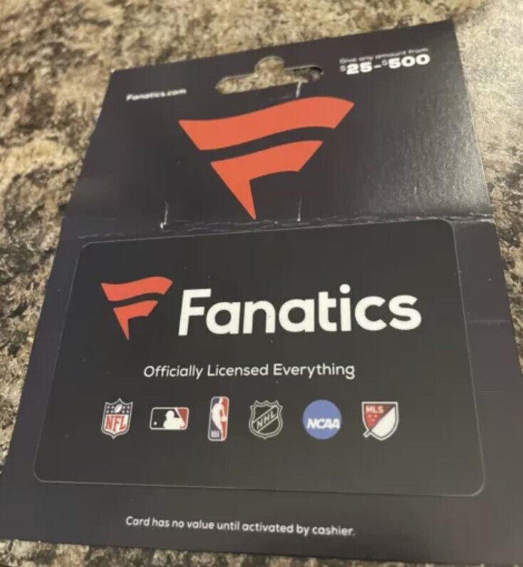 Fanatics $150 gift card