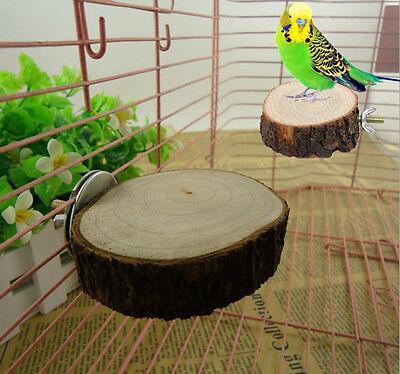Pet Bird Parrot Chew Bite Toy Wood Stand Swing Cage Hanging Cockatiel Parakeet C