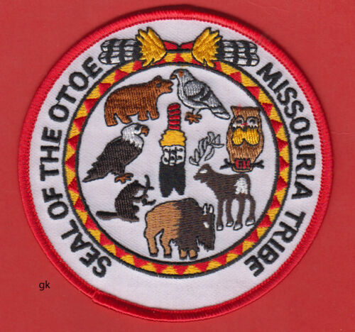 SEAL OF THE OTOE - MISSOURIA TRIBE  OKLAHOMA TRIBAL SHOULDER  PATCH