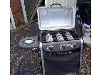 3 Burner Gas BBQ - Never Used - Fully Assembled & Ready To Use