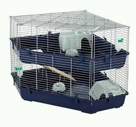 Used two tier indoor corner rabbit cage hutch