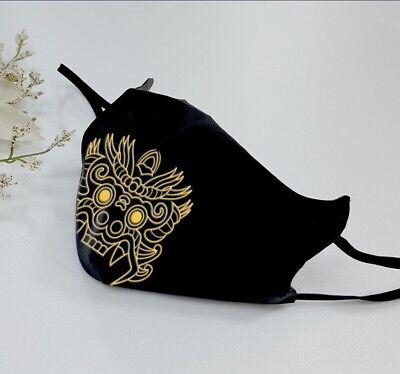 Traditional Korean Dokkaebi Mask Gold Print Goblin Mask Gyeongbok Palace Mask
