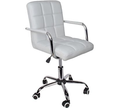 New Modern Office White Leather Chair Hydraulic Swivel Executive Computer chair
