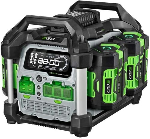 EGO PST3041 3000W Nexus Portable Power Statio w/ 4  5.0AH Batteries & Charger