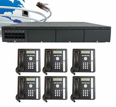 Avaya IP500 V2 Digital VoIP Phone System Package w/6 1416 Ph