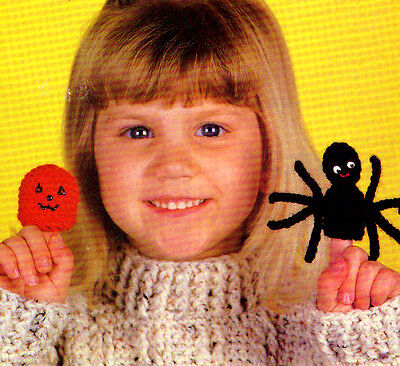 HALLOWEEN Finger Puppets/Toy/ Crochet Pattern INSTRUCTIONS ONLY - Halloween Finger Puppets Craft