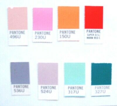 Vintage Pantone Color Sheets All 20w Different Lengths
