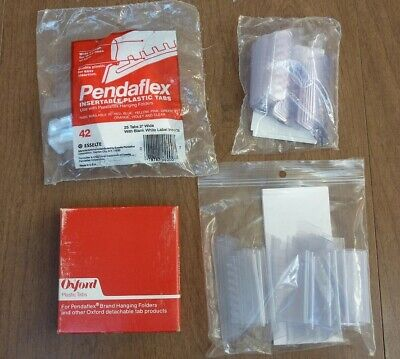 Lot Of 100 Clear Plastic Tabs 2 For Pendaflex Hanging Folders Assorted. Brands