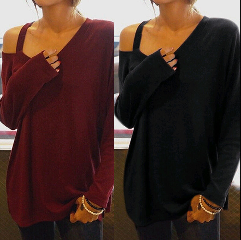 Women's  Loose Long Sleeve Cotton Casual Blouse Shirt Tops Fashion Blouse