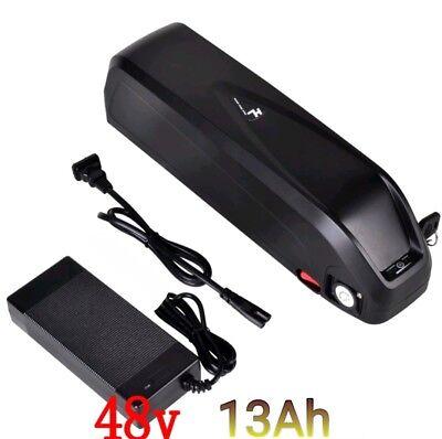 48V 13Ah Hailong lithium li-ion e-bike battery 2A charger New slim style 54.6V