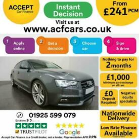 image for 2014 GREY AUDI A5 SPORTBACK 2.0 TDI QUATTRO BLACK EDT CAR FINANCE FR £241 PCM