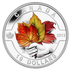 2013 $10 Fine Silver Coin - The Maple Leaf
