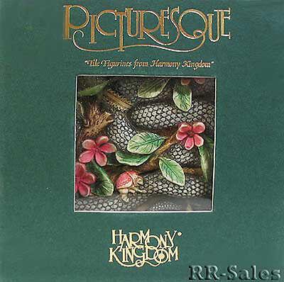 Garter Snake Of Eden Picturesque Tile Harmony Kingdom Byrons Secret Garden Pxga3