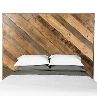 Custom furniture and head boards out of salvaged wood