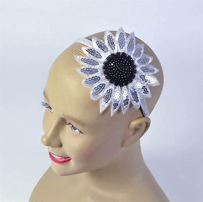 SONNENBLUME STIRNBAND. WHITE. 60ER JAHRE 70ER JAHRE HIPPIE/HIPPIE - Sonnenblume Kostüm Stirnband