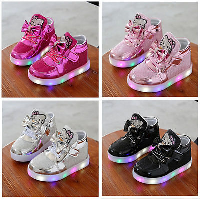 Blinkende Schuhe Baby Kinder Mädchen LED Leuchtende Sneakers Blinkschuhe ()