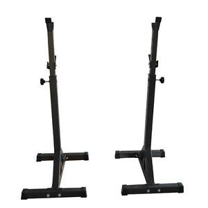Fitness Squat Stands Home Gym Exercise Adjustable Dumbbell Rack Shelf 020046