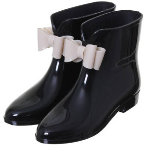 Black Ankle Rainboots (New)