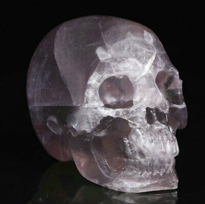 """2.0"""" Fluorite Carved Crystal Skull, Realistic, Crystal Healing"""