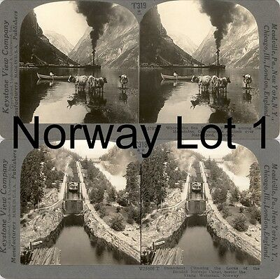 18 Stereoviews Norway, Norwegen, Kongeriket Norge Lot 1
