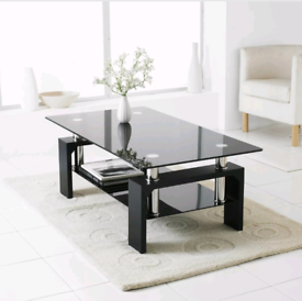New in box black coffee table modern design