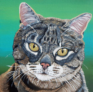 Custom Pet Portrait-8 x 8 Deep Canvas-Carla Smale