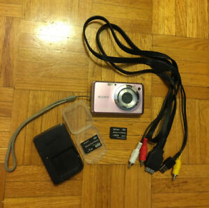 SONY Cyber-Shot Steady Shot Pink Digital Camera (+ 2 SD Cards)